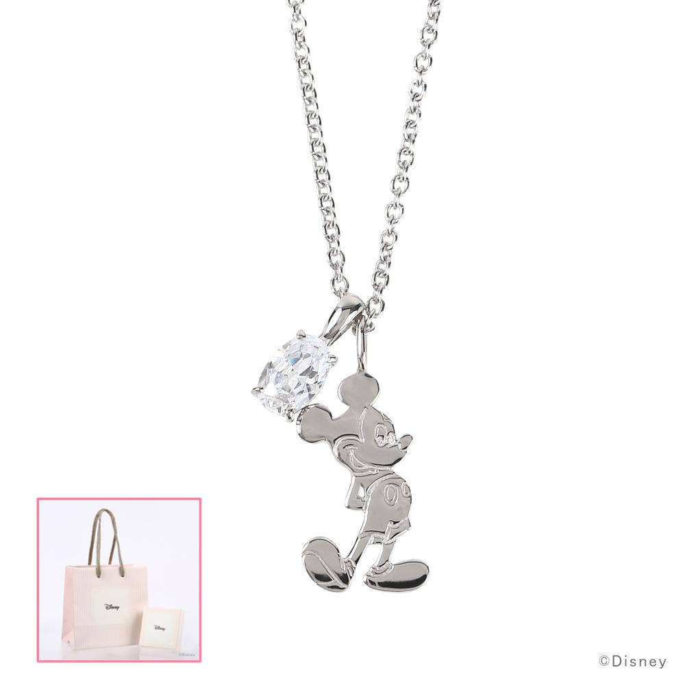 ディズニー ネックレス Disney ミッキーマウス シルバー アクセサリー レディース ペンダント ネックレス VPCDS20167 ミッキー プレゼント 女性 誕生日 記念日