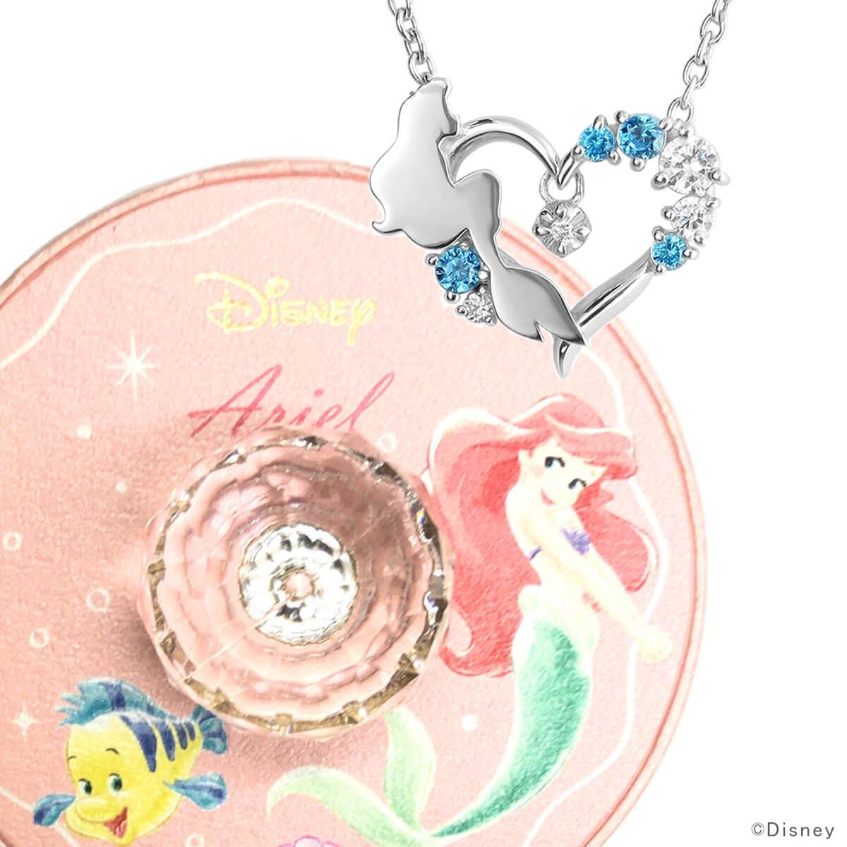 ディズニー アリエル ネックレス リトルマーメイド 数量限定 人気 ダイヤモンド ドロップ Disney プリンセス グッズ プレゼント 誕生日 レディース