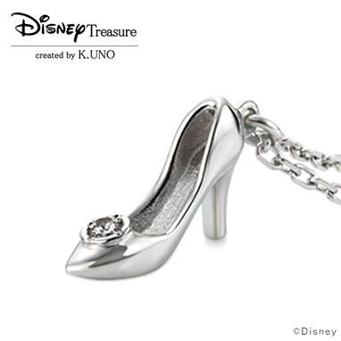 ディズニー グッズ シンデレラ ネックレス ガラスの靴 K18WG ケイウノ 正規品 送料無料