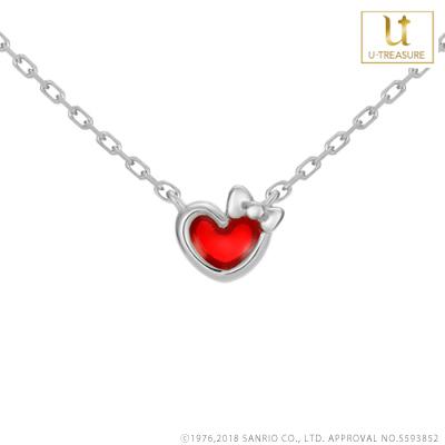 b3d63a37a Hello Kitty goods necklace heart ribbon Hello Kitty Hello Kitty character  necklace silver regular article ...