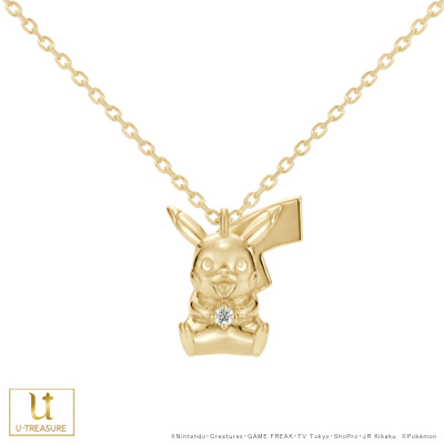 ポケモン グッズ ピカチュウ ネックレス ピカチュウ ダイヤモンド ネックレス K18イエローゴールド レディース ポケットモンスター Pokémon 誕生日 記念日 プレゼント