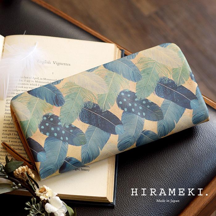 ラウンドファスナー長財布 ◆ラウンド フェザーカーテン【送料無料】【HIRAMEKI./ヒラメキ】