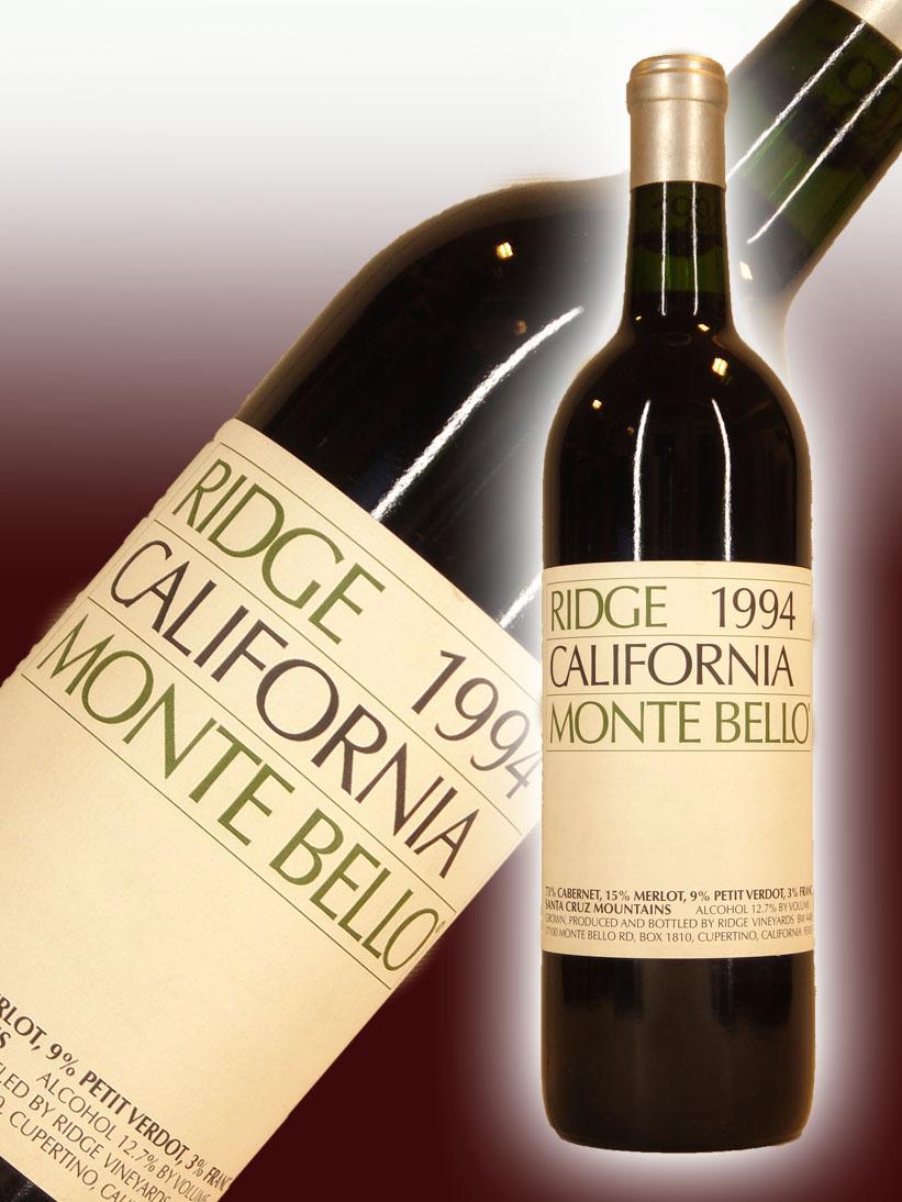 リッジ・ヴィンヤーズ カリフォルニア・モンテ・ベロ[1994]【750ml】Ridge Vineyards California Montebello