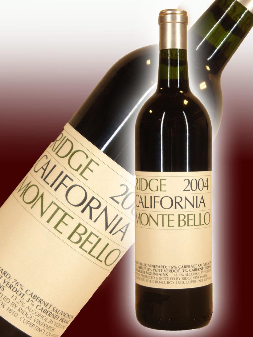 リッジ・ヴィンヤーズ カリフォルニア・モンテ・ベロ[2004]【750ml】Ridge Vineyards California Montebello
