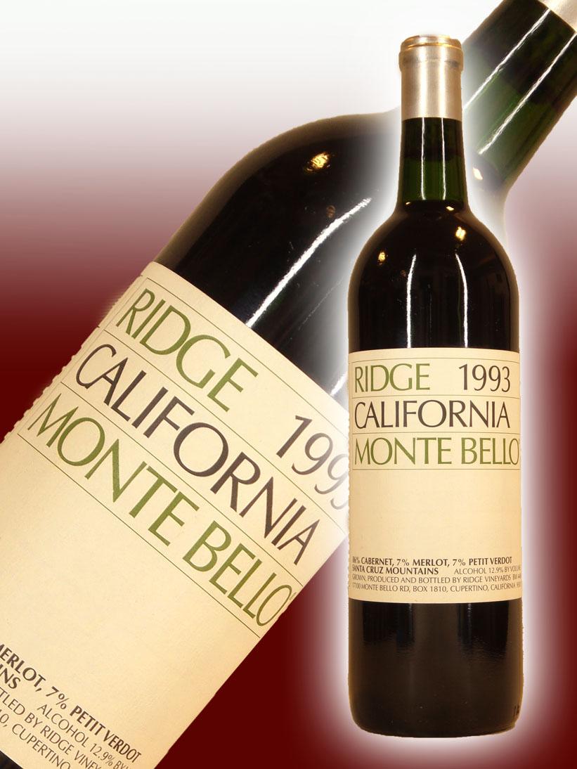 リッジ・ヴィンヤーズ カリフォルニア・モンテ・ベロ[1993]【750ml】Ridge Vineyards California Montebello