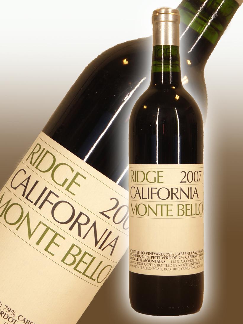 リッジ・ヴィンヤーズ カリフォルニア・モンテ・ベロ[2007]【750ml】Ridge Vineyards California Montebello