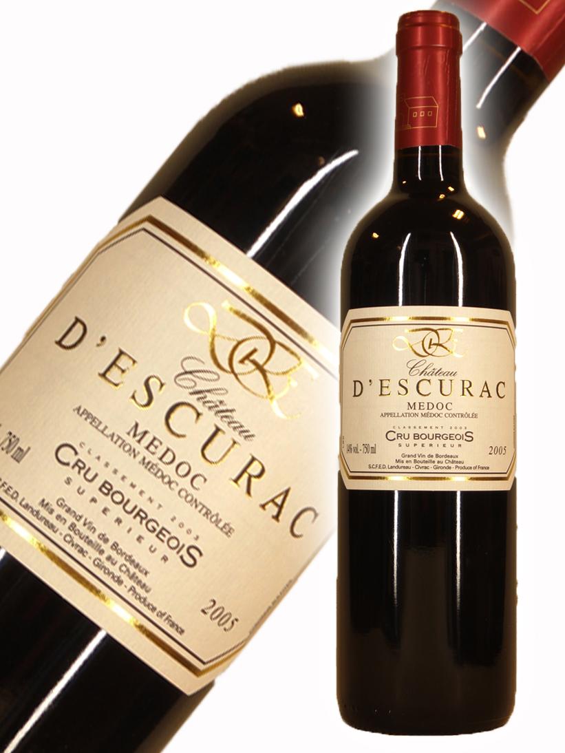 シャトー デスキュラック 2005 Chateau 750ml プレゼント D'Escurac 期間限定今なら送料無料