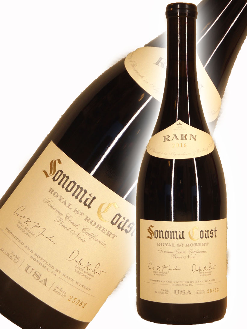 レイン ロイヤル・セント・ロバート・キュヴェ ピノノワール ソノマコースト[2016]【750ml】 Raen Winery Royal St. Robert Cuvee Pinot Noir Sonoma Coast
