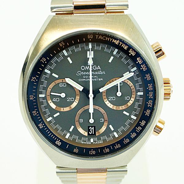 OMEGA オメガ スピードマスター マーク2 コーアクシャル クロノグラフ 327.20.43.50.01.001 SS/セドナゴールド グレー文字盤 メンズ 腕時計 Aランク【中古】