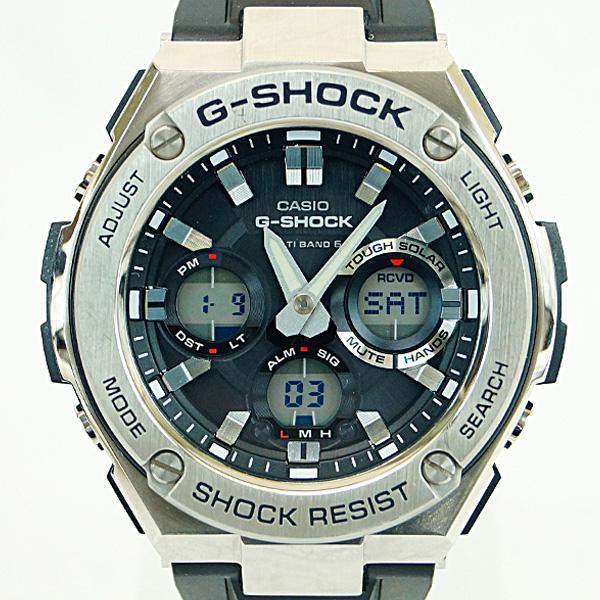 玄関先迄納品 CASIO カシオ Gショック Gスチール GST-W110-1AJF メンズ ソーラー電波クォーツ 腕時計 Aランク, ランドマーク d63c50ac