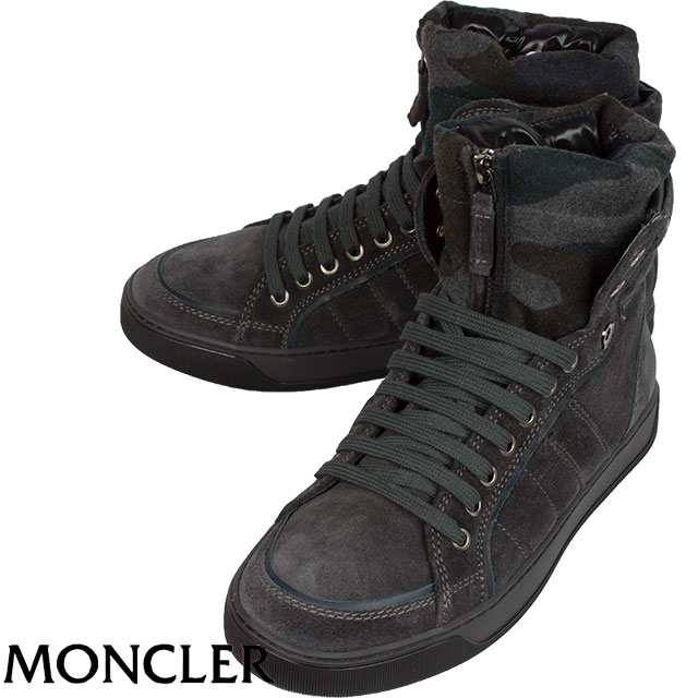 MONCLER モンクレール メンズ ハイカットスニーカー BAREGES 920 グレー×カモフラージュ