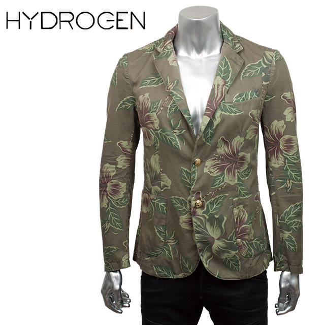 HYDROGEN ハイドロゲン メンズ ジャケット 160503 MILITARY CLASSIC JACKET 871 DARK GREEN FLOWERS