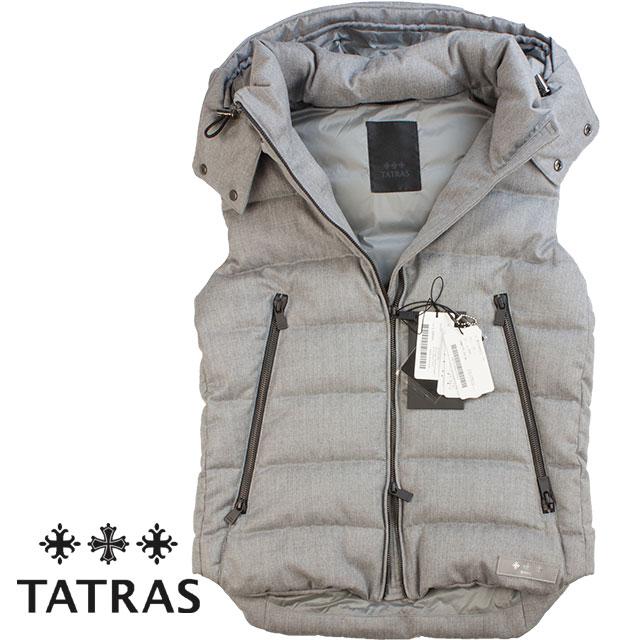 TATRAS タトラス メンズ ウール地ダウンベスト SOVER SOVER ソヴェール MTA19A4373 LGRAY ライトグレー