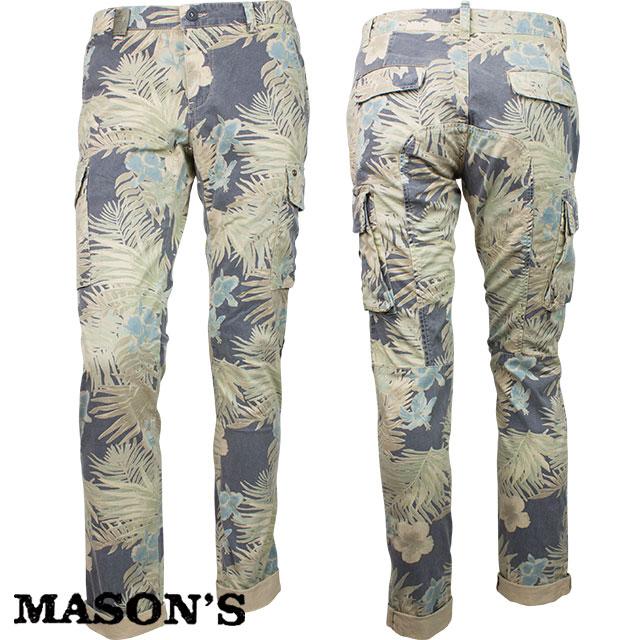 MASON`S メイソンズ メンズ 花柄パンツ 4MM8010 0298 ブルーグレー