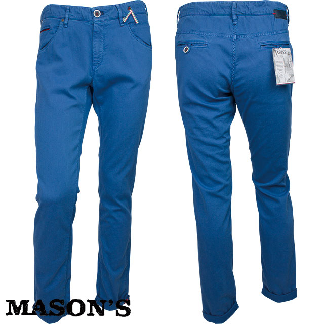 MASON`S メイソンズ メンズ パンツ 4MM6504 K 487 ブルー