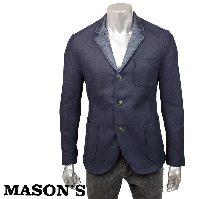 MASON`S メイソンズ メンズ ジャケット 4MM7420 0012 ネイビー【セール商品のため返品交換不可】