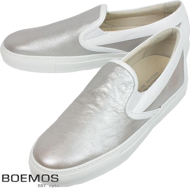 BOEMOS ボエモス メンズ レザーシューズ JERSEY METAL TA8104 ARGENTO シルバー