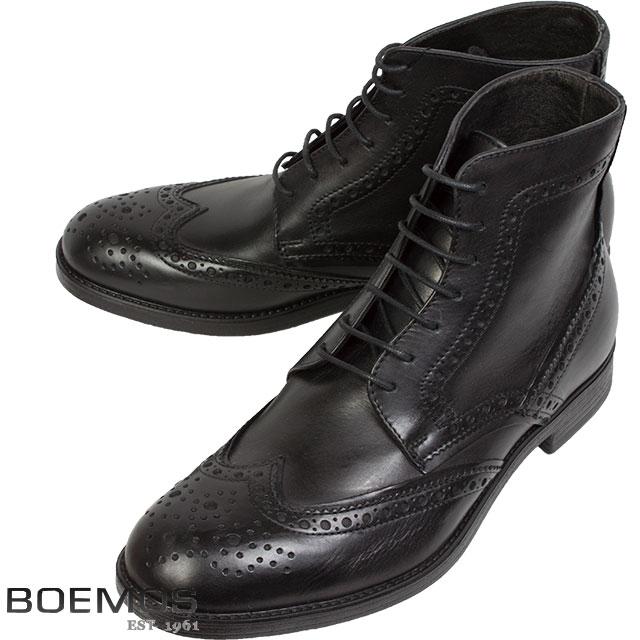BOEMOS ボエモス メンズ シューズ TA5205 ショートブーツ A ブラック