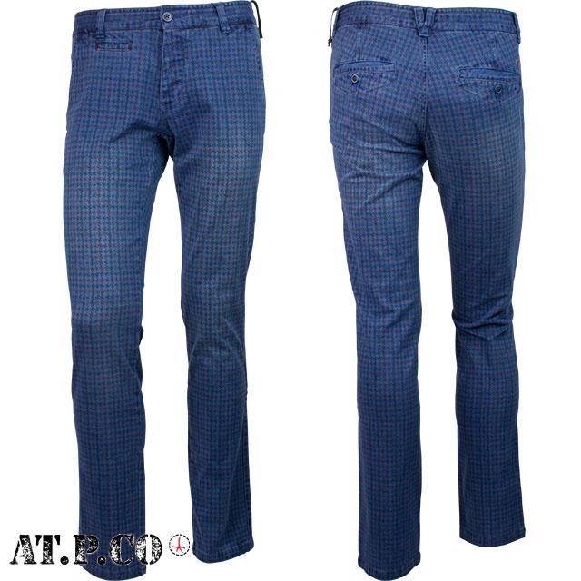 AT.P.CO アティピコ メンズ パンツ 4AP1225 0760 ブルー