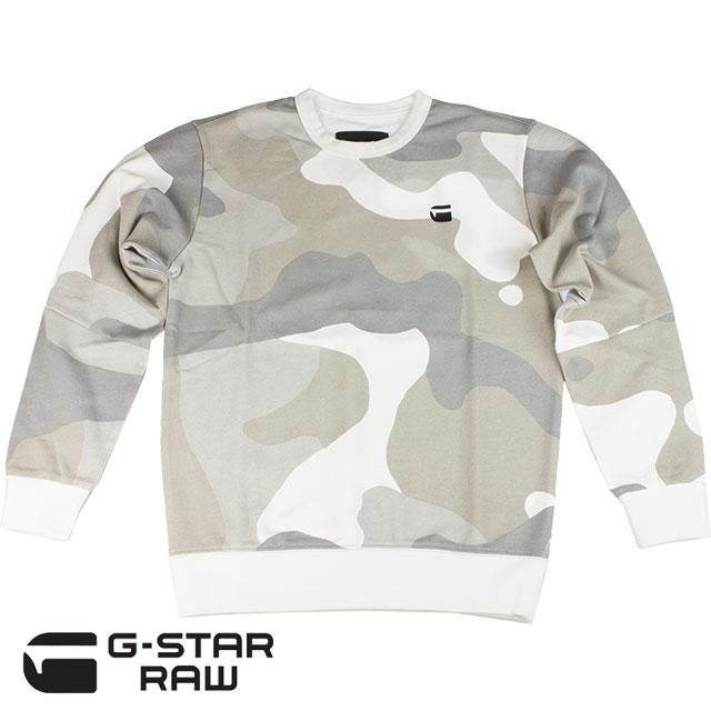 G-STAR RAW ジースター ロゥ メンズ トレーナー ODC STALT DC R SW L/S D08249 A525 8391 MILK/INDUSTRIAL GREY AO