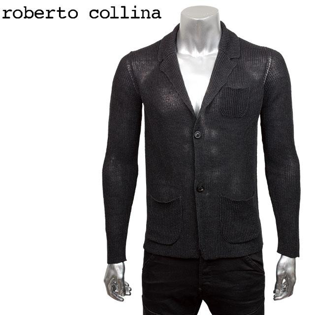roberto collina ロベルト コリーナ メンズ ニット カーディガン RG35011 09 BLACK ブラック