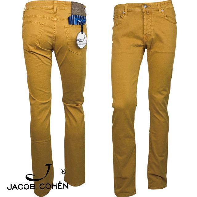 【訳あり商品】【色焼け,汚れ有り】JACOB COHEN ヤコブ コーエン メンズ パンツ 226 82193 48 ダークイエロー【セール商品のため返品交換不可】