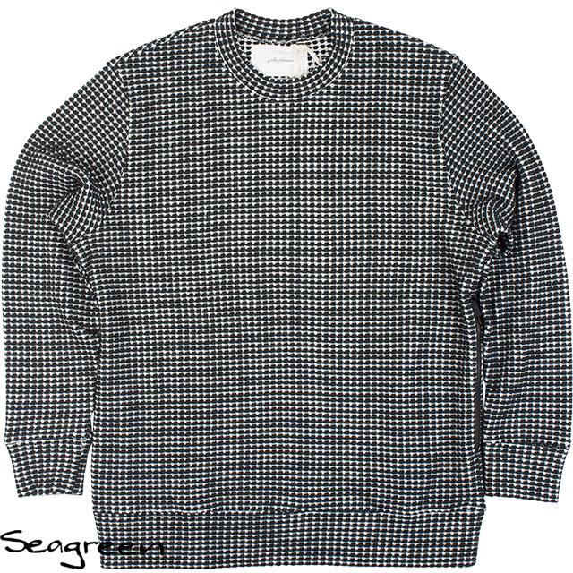 Seagreen シーグリーン メンズ オニワッフルニット MSG20S8102 BLACK ブラック
