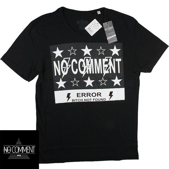 NO COMMENT PARIS ノーコメントパリ メンズ 半袖Tシャツ TM LTN38 BLACK ブラック