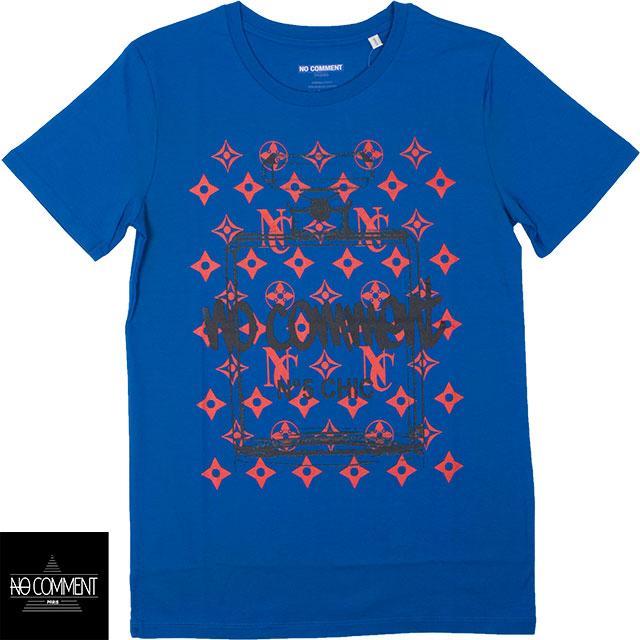 NO COMMENT PARIS BLUE ノーコメントパリ メンズ 半袖Tシャツ TU ULTN004 BLUE ブルー