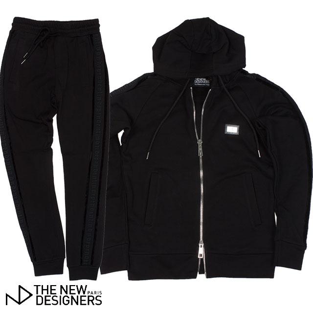 THE NEW DESIGNERS ニューデザイナーズ メンズ ZIPパーカー パンツ セット 5003 BLACKOUT BLACK ブラック