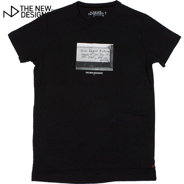 THE NEW DESIGNERS ニューデザイナーズ メンズ 半袖Tシャツ 108 professor BLACK ブラック