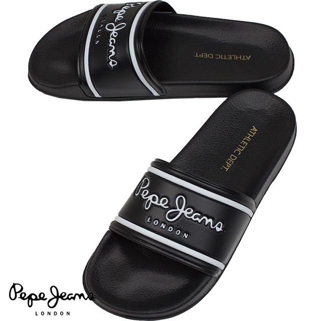 Pepe Jeans ぺぺジーンズ メンズ サンダル SLIDER CLASSIC PMS70070 999 BLACK