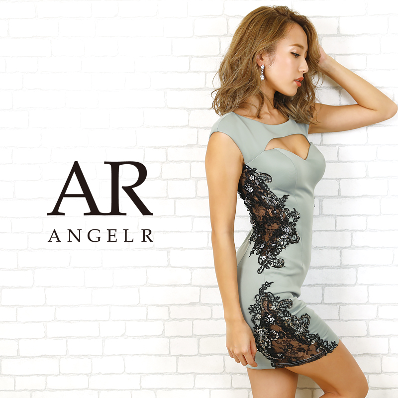 AR20805 フラワーレースビジュータイトミニドレス エンジェルアール AngelR