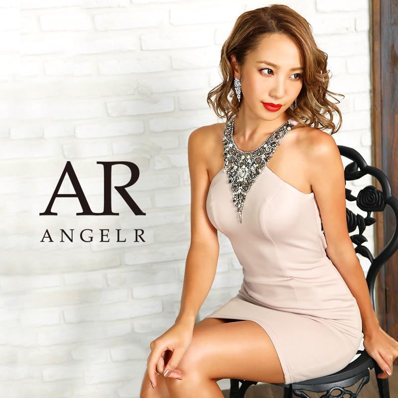 AngelR エンジェルアール デコルテVデザインビジュータイトミニドレス AR9236