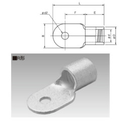 ニチフ 正規認証品 新規格 人気 おすすめ R100-14 銅線用裸圧着端子 丸形 R形