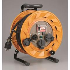 HATAYA BR-301KL BR型コードリール(30m・漏電遮断器付・引掛コンセント・接地付)