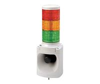 PATLITE LED積層信号灯付き MP3音声合成報知器 LKEH-302FV DC24V 3段