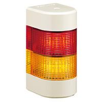 PATLITE LED壁面取付け積層信号灯 WME-202A-RG ブザーなし AC/DC24V 2.7W 2段