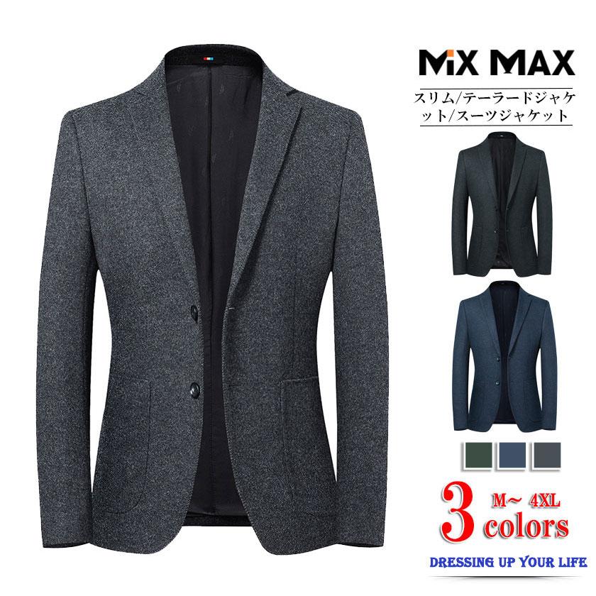 スーツ テーラードジャケット メンズ スリム スリムスーツ ウール コート 2つボタン ビジネススーツ ビジネス ジャケット 紳士服 suit 長袖 アウター 秋 冬 春