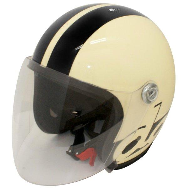 ダムトラックス DAMMTRAX ヘルメット ジェット エス ダム&ラックス アイボリー/黒 メンズサイズ(57cm-60cm未満) 4560185903245 HD店