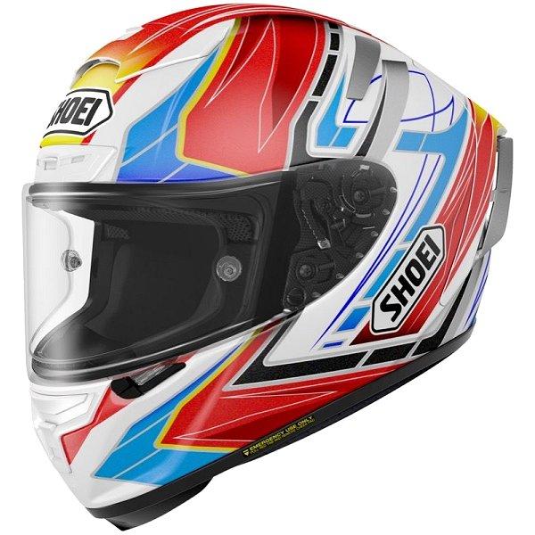 ショウエイ SHOEI フルフェイスヘルメット X-Fourteen ASSAIL TC-10 赤/白 XSサイズ 4512048459734 HD店