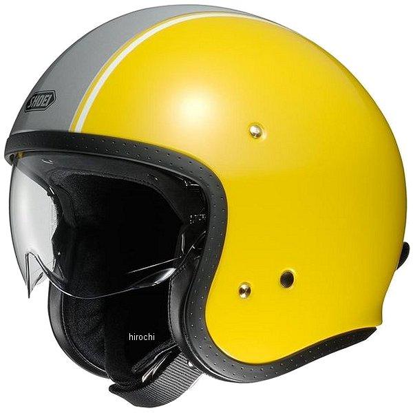 【メーカー在庫あり】 ショウエイ SHOEI ジェットヘルメット J・O CARBURETTOR TC-3 黄/シルバー Mサイズ 4512048459321 HD店