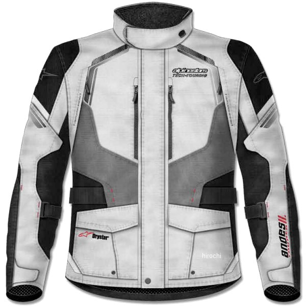 アルパインスターズ Alpinestars 春夏モデル ジャケット ANDES 2 DRYSTAR ライトグレー/黒/ダークグレー Sサイズ 8021506615200 HD店
