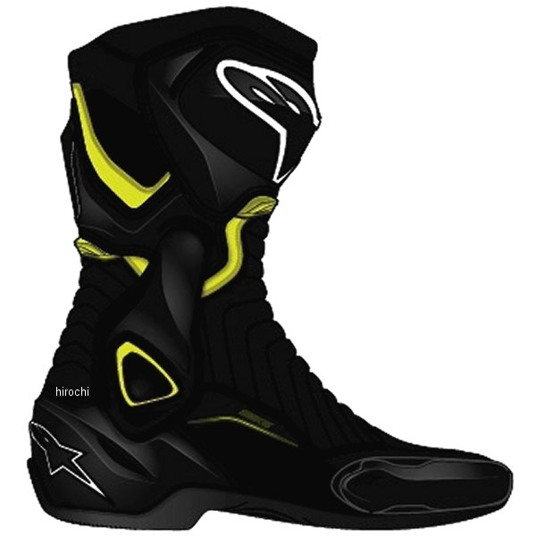 【メーカー在庫あり】 アルパインスターズ Alpinestars 春夏モデル ロードレーシングブーツ SMX-6 V2 黒/蛍光黄 41サイズ (26cm) 8021506618140 HD店