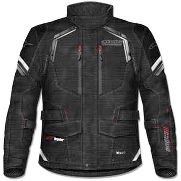 アルパインスターズ Alpinestars 春夏モデル ジャケット ANDES 2 DRYSTAR 黒 4XLサイズ 8021506624585 HD店