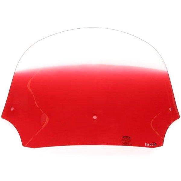 【USA在庫あり】 メンフィスシェード Memphis Shades バットウィング フェアリング用シールド 9インチ高 赤 ME0148 HD店