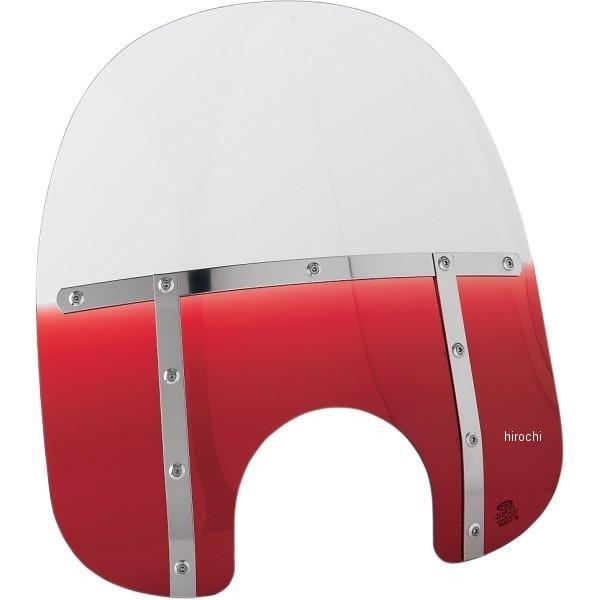 【USA在庫あり】 メンフィスシェード Memphis Shades ウインドシールド ファット 17インチ高/ライト用カット幅 9インチ FLHR 赤 ME0368 HD店