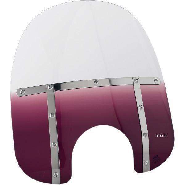 【USA在庫あり】 メンフィスシェード Memphis Shades ウインドシールド ファット 17インチ高/ライト用カット幅 9インチ FLHR 紫 ME0369 HD店