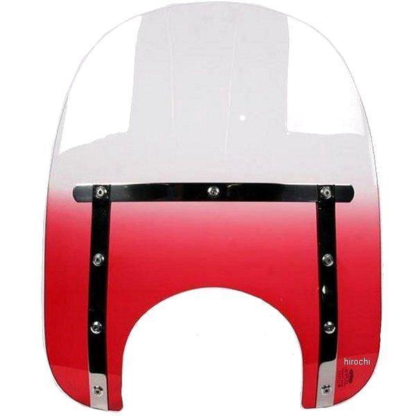 【USA在庫あり】 メンフィスシェード Memphis Shades ウインドシールド スリム 15インチ高/ライト用カット幅 9インチ FLHR 赤 ME1222 HD店