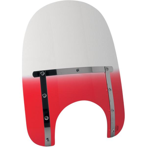 【USA在庫あり】 メンフィスシェード Memphis Shades ウインドシールド スリム 17インチ高/ライト用カット幅 9インチ FLHR 赤 ME1236 HD店